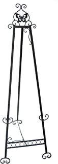 Designstyles Decorative Metal Easel Stand – Adjustable Floor Display for Art Pieces, Signs, Mirrors and Chalk/Dry Erase Boards - 61