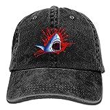 xinfub Big Shark Mouth Creative Baseball Caps Denim Adjustable Hats Net Red 3835
