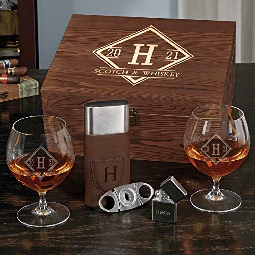 Drake Custom Opus Cognac Glasses Set with Cigar Accessories (Personalized Product)