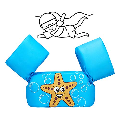 Child Colorful Swim Flotation Learn to Swim Float with Arm Wings for 2-6 Years Old Swim Vest for Kids (Blue2)
