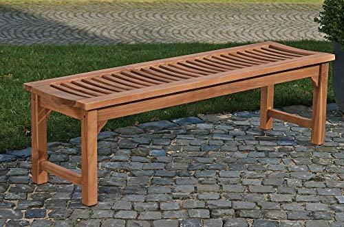 CLP Teakholz Garten-Bank HAVANA V2 ohne Lehne, Teak-Holz massiv (bis zu 8 Größen wählbar) 240 x 45 x 45 cm - 9