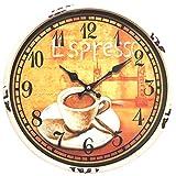Perla PD Design - Reloj de pared de metal lacado con esfera de cristal y diseño...