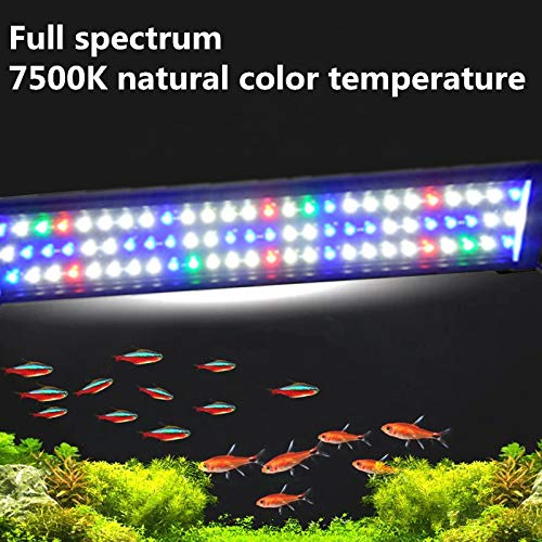 Sxsoace 5730SMD Full Spectrum Leuchte für Aquarium 30-180cm LED Licht EU A149 (150cm)