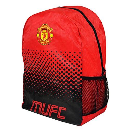 Mochila ajustable con cremallera de equipo de fútbol, diseño oficial, Manchester United FC