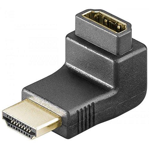 Goobay 69782 - Adaptador de HDMI acodado (conector HMDI macho de 19...