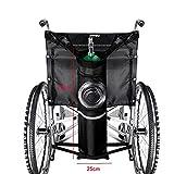 MOVKZACV Bolsa de oxígeno para mochila para silla de ruedas, bolsa de oxígeno portátil para tanque de oxígeno, bolsa de almacenamiento de rayas reflectantes negra Bolsa de cilindro de oxígeno (negro)