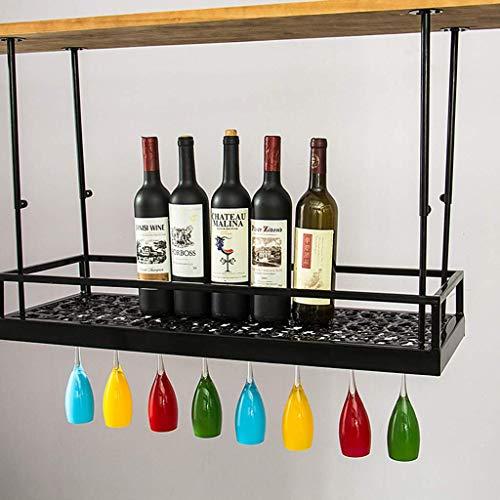 1yess Supporto di Vetro di Vino Capovolto Wine Rack Regolabile Rustico Ferro Hanging Calici Rack Decorazione del soffitto Mensola for Bar Ristoranti Cucine Rack Size : 150cm(59.1in)