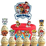 35 Toppers for Paw Patrol Cake Topper Cupcake Toppers, Party Supplies Happy Birthday Cake Toppers, Cake Decorations