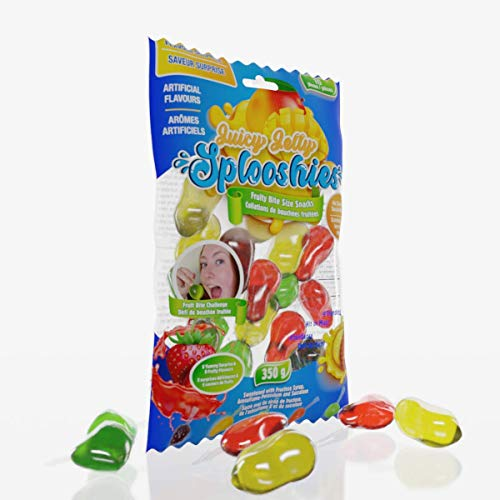 JUICY JELLY SURPRISE SPLOOSHIES - NEW Fruit Jelly Fun Bite-Sized Snack, Assorted Surprise Flavors, Perfect for Tik Tok Fruit Bite Challenge - 10 pieces, 350g