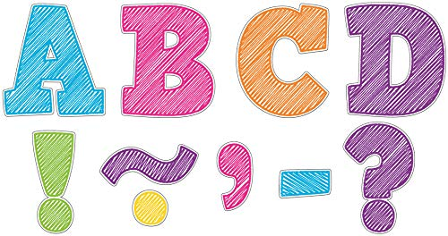 """Teacher Created Resources Scribble Bold Block 3"""" Magnetic Letters, 77292"""
