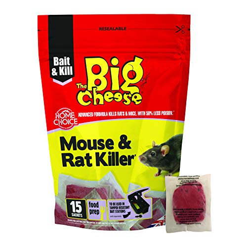 The Big Cheese 15 Pack Mouse & Rat Killer² -Confezione da 15, Rosso, 4.5x14.5x22 cm