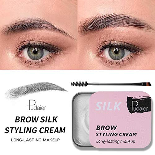 Xisheep Eyebrow Pencil, Eyebrow Shaping Soap Long Lasting Eye Brow Makeup Styling Gel Wax with Brush, Health and Beauty (Multicolor)