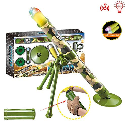 Kids Tactical Toys Bundle, Rocket Und Sound Und Light Toy Missile Military Modell Mörser Toy Tactical Mortar Mit Interessanten Shooting Toys, Geschenk Für Kinder, Sicherheit