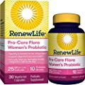 Renew Life Women's Probiotic - Pro-Care Flora Women's Probiotic - Gluten, Dairy & Soy Free - 25 Billion CFU - 30 Vegetarian Capsules