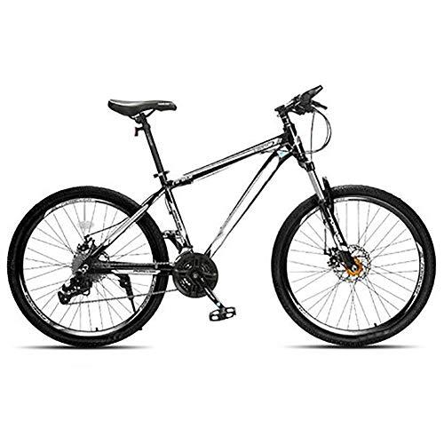 Sun candlelight Bicicleta De Trekkin, 24 velocidades, 26 Pulgada,Bicicleta de montaña Unisex (Color : Black, Size : 24 Speed)