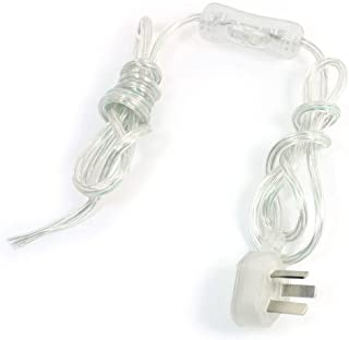 Aexit Clear (Control electrical) 1.8m Cord Line Lamp Light Bulb On/Off Switch AU Plug AC (72ry27qf320) 220V For AU 6A