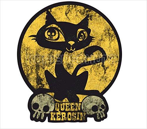 King Kerosin Queen Kerosin Aufkleber Sticker Retro Oldschool Vintage Tuning