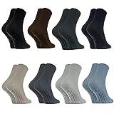 Rainbow Socks - Damen Herren Antirutsch Diabetiker Socken Ohne Gummib& ABS - 8 Paar - Klassische Farben - Größen 39-41