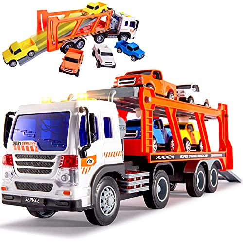 BUYGER Spielzeugautos Autotransporter...