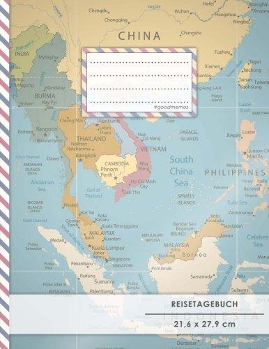 """Reistetagebuch: DIN A4, """"China-Reise"""", 70+ Seiten, Soft Cover, Register, Reisecheckliste • Original #GoodMemos Travel Journal • Reisenotizbuch zum Selberschreiben"""