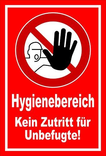 Melis Folienwerkstatt Schild Hygienebereich - 60x40cm - Bohrlöcher - 3mm Hartschaum – 20 VAR S00225-003-D
