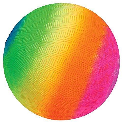 18 Heavy Rubber Rainbow Playground Kickball by KidFun Products