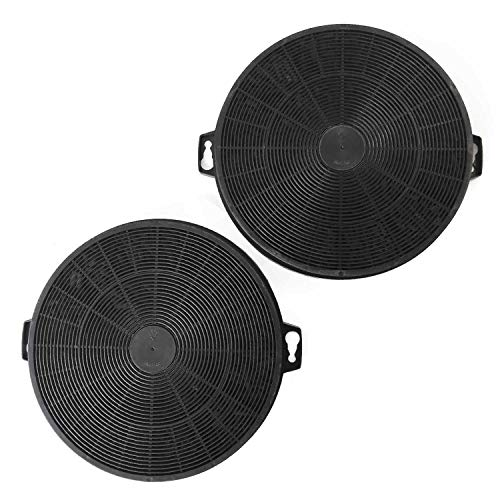 Juego de 2 filtros de carbón activo AFC-62, diámetro 200-210 mm, redondos, para campana extractora Siemens Neff Bosch