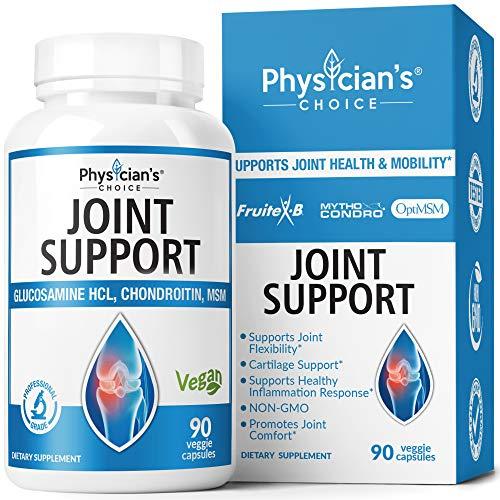Glucosamina condroitina MSM – Mythocondro clínicamente probado 43% mejor absorción – Suplementos articulares para hombres y mujeres – cúrcuma, Boswellia – Triple fuerza, (libre de mariscos, vegano) 90 cápsulas