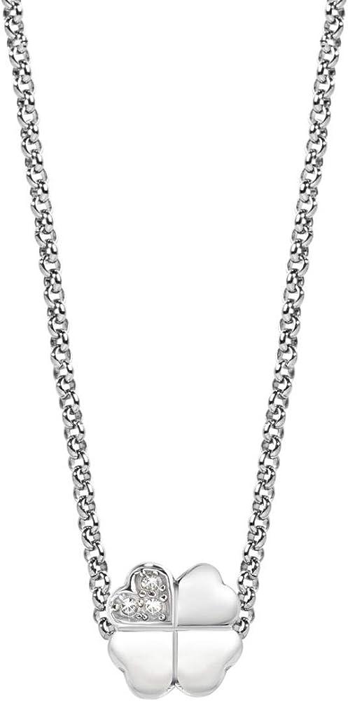 Morellato, collana da donna, collezione drops, con pendente, in acciaio e cristalli 8033288707820