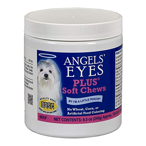 Angels  Eyes PLUS Tear Stain Prevention Soft Chews for Dogs and Cats - 120 Ct - Beef Formula