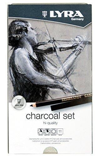 LYRA REMBRANDT Charcoal Set 11er Set im Blechetui