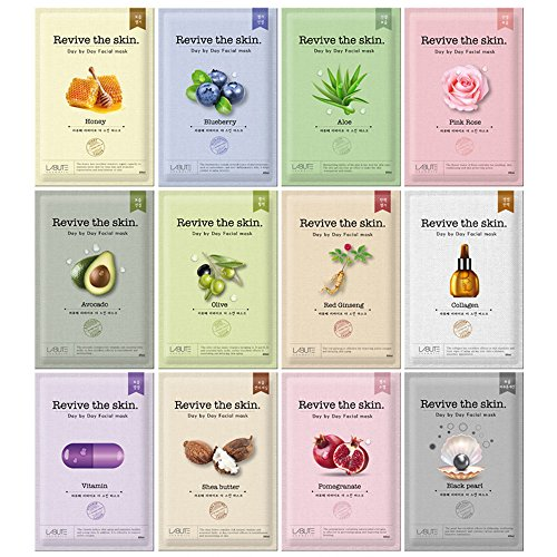 LABUTE Revive The Skin Mask Sheet (12 kinds mask sheet (12EA))