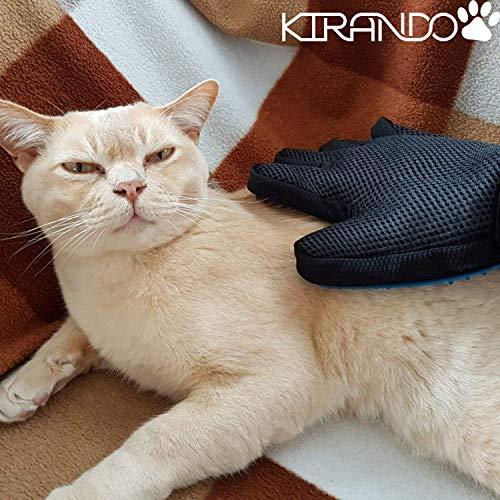 Kirando's Premium Fellpflege-Handschuh | besonders effiziente und schonende Tierhaar-Entfernung! | Reinigung, Pflege & Massage in einem Schritt für ihren Hund oder Katze! - 3