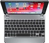 Brydge 9.7 iPad Keyboard | Aluminum Bluetooth Keyboard for 9.7 inch iPad (6th Gen), 5th Gen iPad (2017), iPad Pro 9.7 inch, iPad Air 1 and iPad Air 2 (Space Gray)