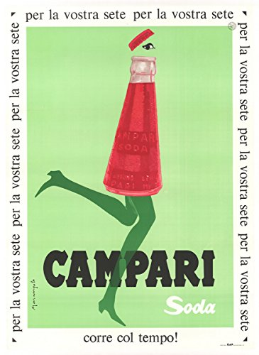 Historic Pictoric Campari 1950-24in x 18in Vintage Italian Poster Print
