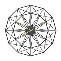 壁掛け時計ミュートハンガー時計50cmホームリビングルーム寝室の装飾レトロ北欧タイプアイアンアートラージサイレントハンギングラージウォールクロック