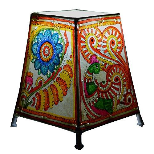 Royal Handicrafts Handpainted Leather Table Lamp