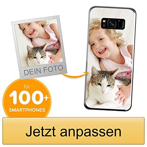 Coverpersonalizzate.it Handyhülle für Samsung Galaxy S8 Plus mit Foto-, Bildern- oder Text selbst gestalten- Die Handyhülle ist aus weichem transparentem TPU-Silikon-Gel Material