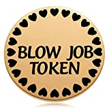 Funny Gift for Husband or Boyfriend, Naughty Gifts for Him or Men, Fiance Valentines Day Birthday Anniversary Token Coin Golden 1.5'