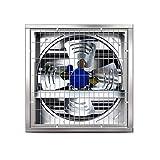 Ventilador Industrial, operación silenciosa Ventilador de extracción Industrial de Alta Potencia Adecuado para fábricas/comedores Escolares/Granjas/depósitos, etc. (Plateado)