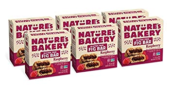 Nature's Bakery Gluten Free Fig Bars Raspberry Real Fruit Vegan Non-GMO Snack bar 6 boxes with 6 twin packs  36 twin packs