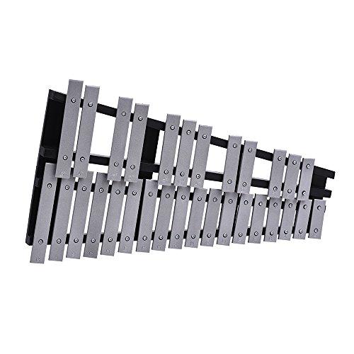 ammoon Glockenspiel 30 Note Xylophone Foldable Cadre en bois Barres en aluminium Percussion éducative Instrument musical Cadeau avec sac de transport