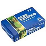 2 Pack - Royal Paper R820 Round Wooden Toothpicks - 800 / Box - 1600 Total
