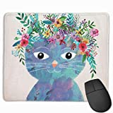 Flower Cat Gaming Mouse Pad Mousepad Non-Slip Rubber Mouse Mat Rectangle Mouse Pads for Desk Laptop Office Work