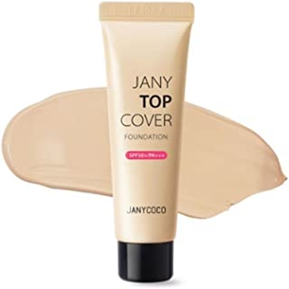 ジェニーココジェニートップカバーファンデーション(SPF50+/PA+++)30ml 2カラー、Janycoco Jany Top Cover Foundation (SPF50+/PA+++) 30ml 2 Colors [海外直送品] (No.21 Natural Beige)