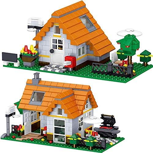 Bausteine Creator Design Series Statische Bausteine Wildnis Freizeit Haus Modell Ziegelsteinkinder Urlaub Spielzeug Geschenke