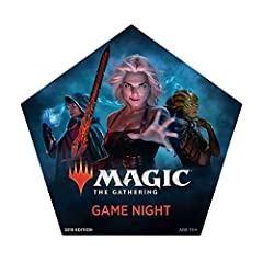 You and 1–4 friends can start playing Magic: The Gathering instantly with this multiplayer starter set. Just open and play. Everything is in the box. 5 60-card decks, 5 dice for tracking life totals, and all the accessories you need to play. These fi...