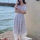 ShSnnwrl Sexy y Belleza conviven Dresses Vestidos Mujerestilo Elegante Vestidos Midi Mujeres Casual Manga Corta Floral Correa Ves