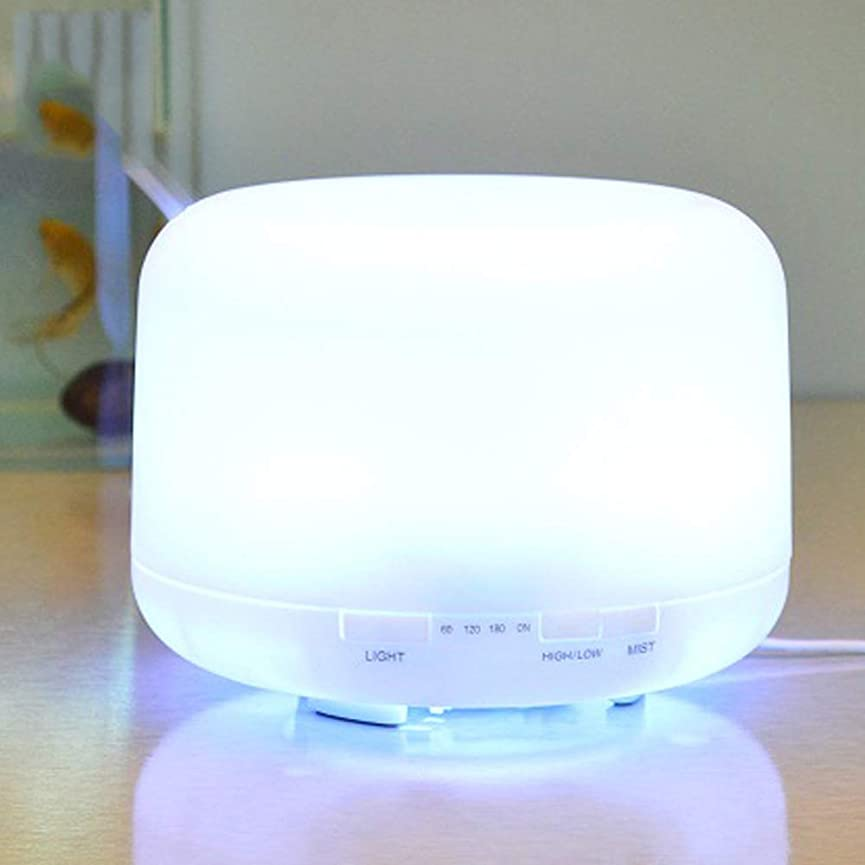 インフラ今まで社会1000ml のエッセンシャルオイルディフューザー、プレミアム超音波アロマセラピー香りオイルディフューザー気化器、タイマーと水なしオートオフ、7 LED ライトカラー
