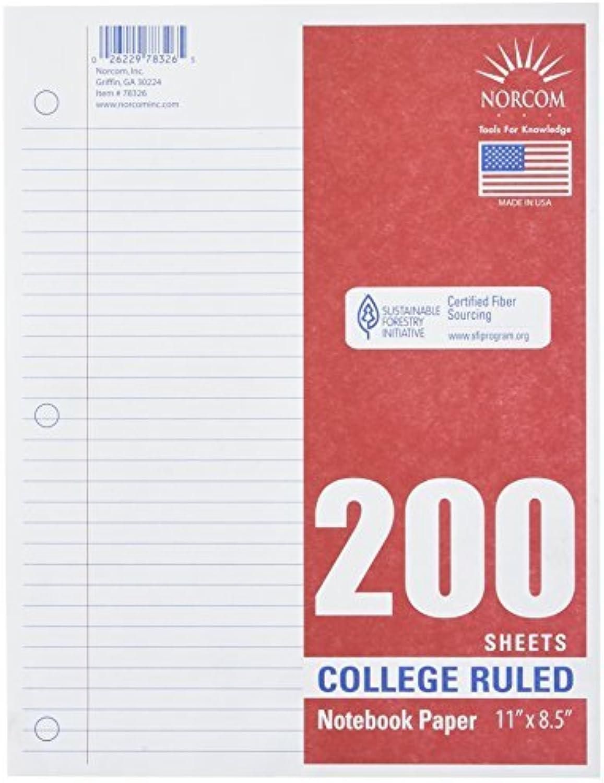 Norcom College College College liniert Filler Papier, 27,9 x 21,6 cm, 200 Blatt, weiß (78326–24) von norcom B01IQGPD9C | Starker Wert  b91c9f
